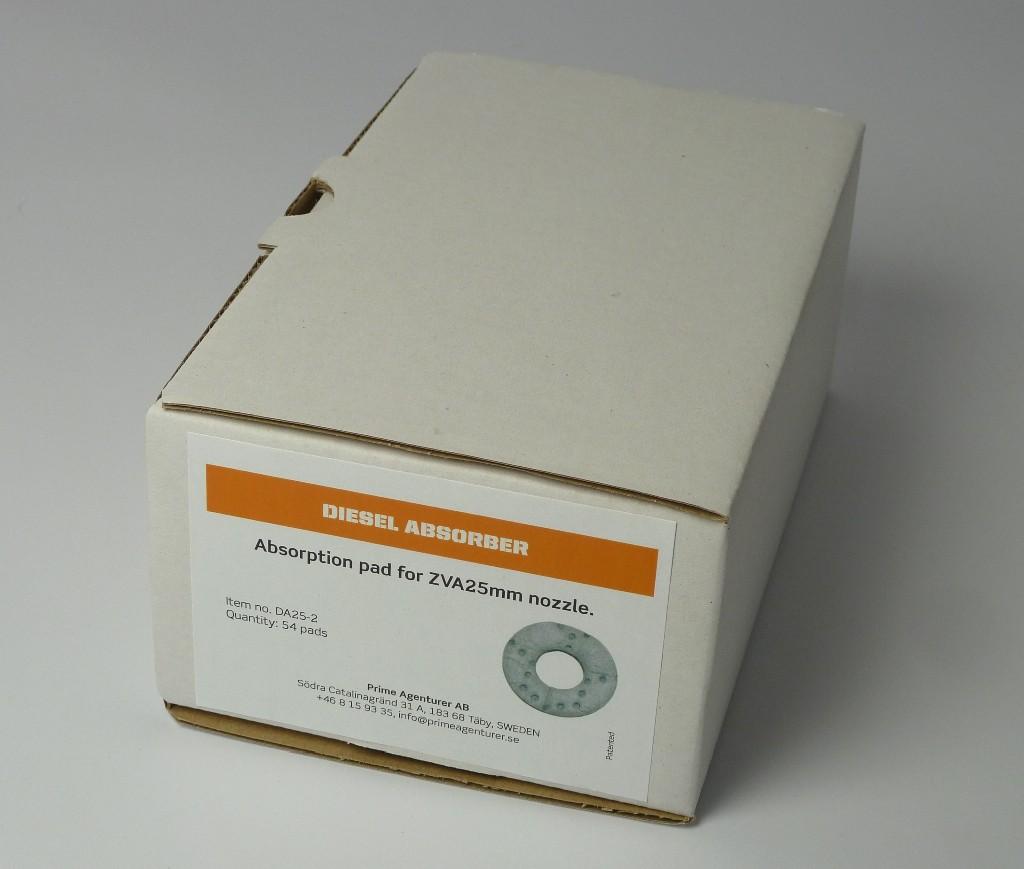Boîte de 54filtres d'absorption pour DA-25 et DA-40
